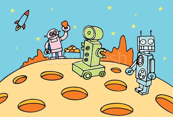 Robot mijnbouw operatie robots mijn materieel Stockfoto © cteconsulting