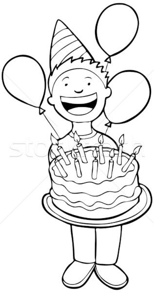 パーティーの時間 黒白 子 誕生日パーティー パーティ 図書 ストックフォト © cteconsulting