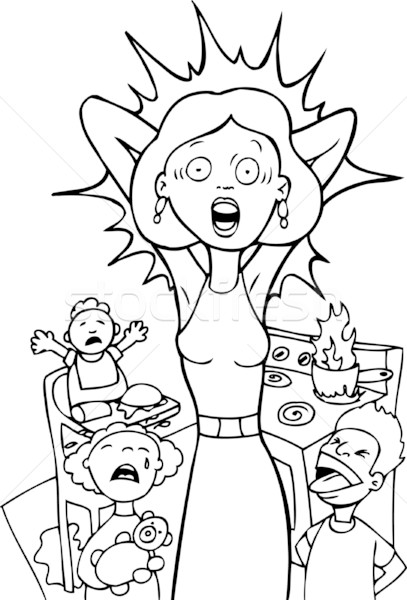 Stressed Mom Stock photo © cteconsulting