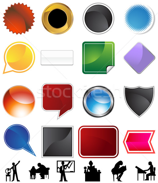 Ensino variedade conjunto isolado branco globo Foto stock © cteconsulting