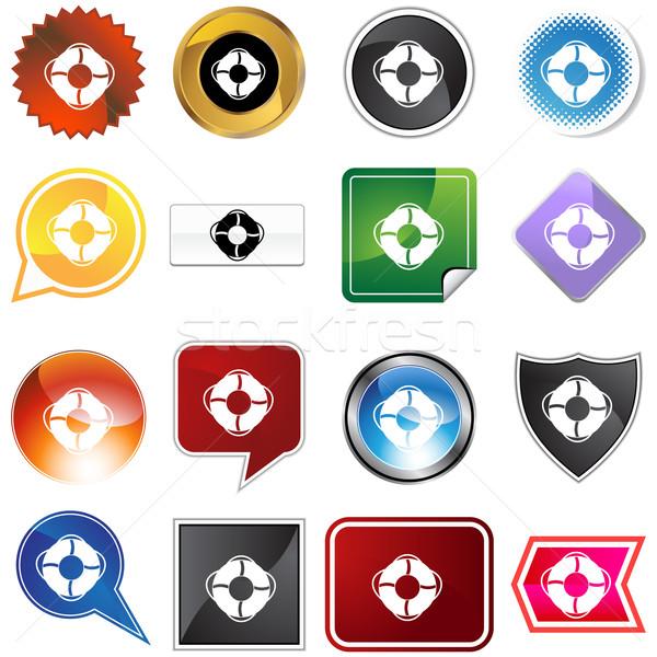 Life ring Variety Set Stock photo © cteconsulting