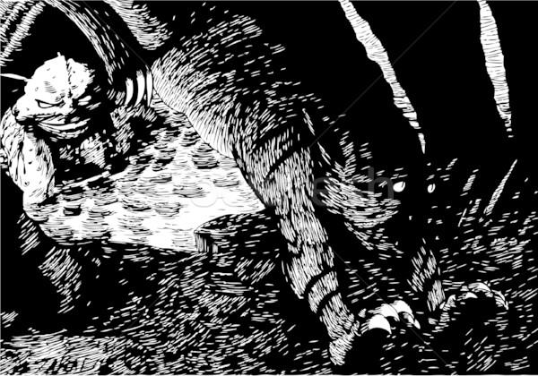 ночь тварь рисованной изображение Существа стороны Сток-фото © cteconsulting