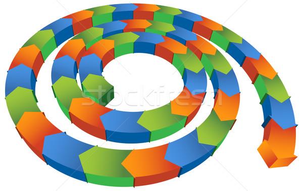 Isometric Spiral Arrow Stock photo © cteconsulting
