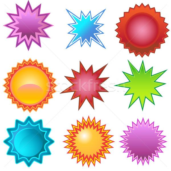 Starburst Stickers: Bursters Stock photo © cteconsulting