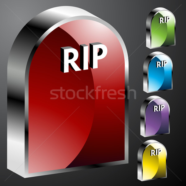 Tombstone Buttons Stock photo © cteconsulting