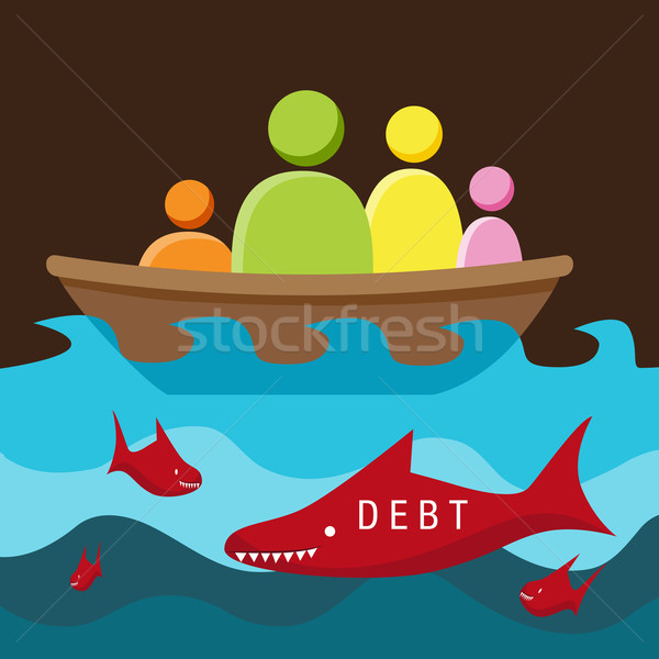 Debt Danger Stock photo © cteconsulting