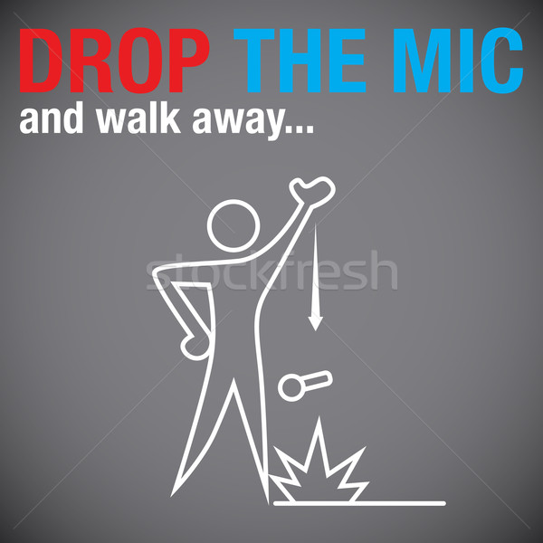 Drop the Microphone Stock photo © cteconsulting