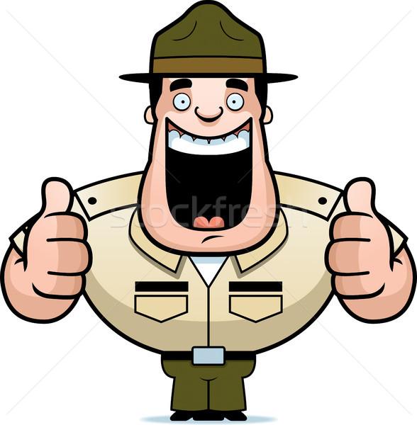 Cartoon дрель сержант иллюстрация два Сток-фото © cthoman