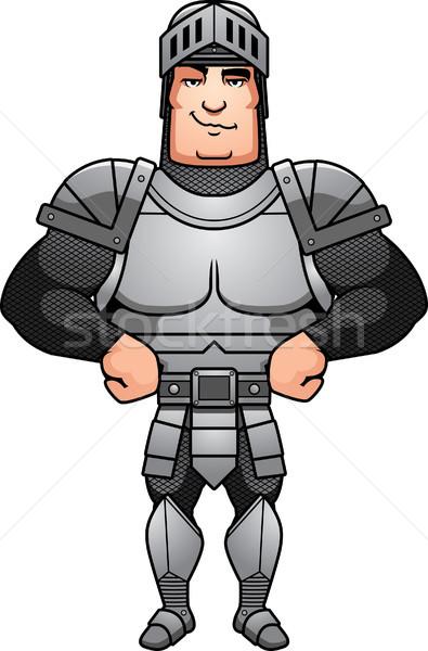 Confident Cartoon Knight Stock photo © cthoman