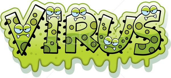 Karikatür sümüksü virüs metin örnek Stok fotoğraf © cthoman