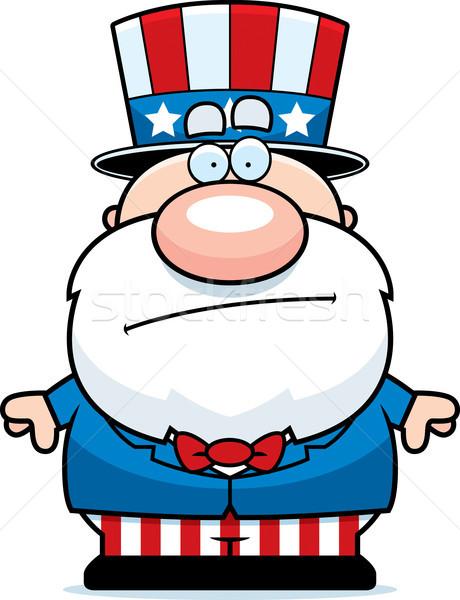 漫画 愛国者 退屈 実例 愛国的な 男 ストックフォト © cthoman