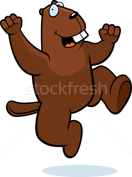 Beaver Jumping Stock photo © cthoman