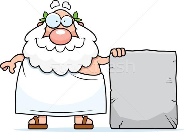 Greek Philosopher Tablet Stock photo © cthoman
