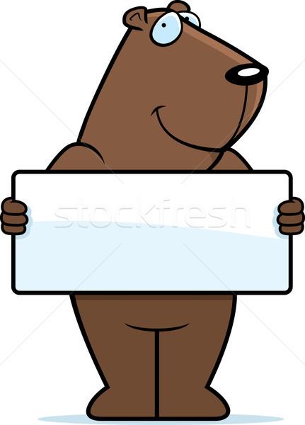 Groundhog Sign Stock photo © cthoman