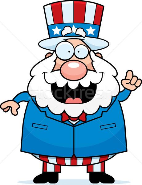 Vatansever fikir mutlu karikatür adam konuşma Stok fotoğraf © cthoman