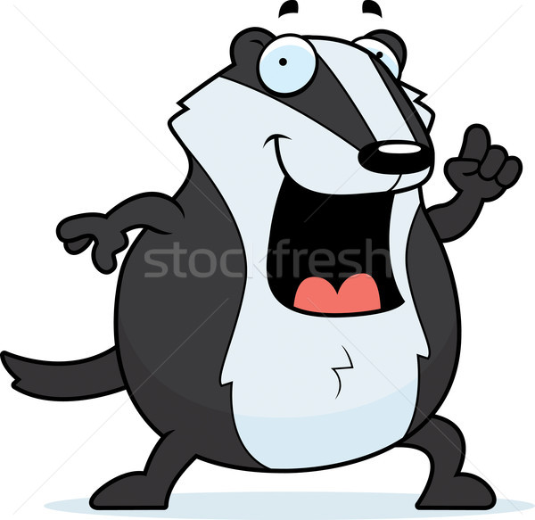 Cartoon Badger Idea Stock photo © cthoman