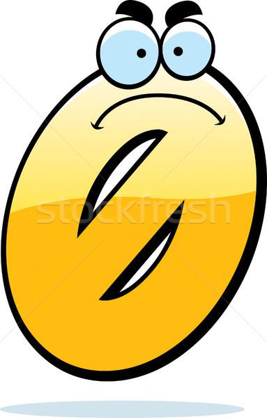 Zangado desenho animado zero ilustração olhando número Foto stock © cthoman