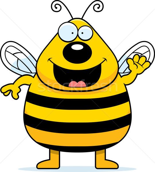 Stockfoto: Cartoon · bee · illustratie · glimlachend