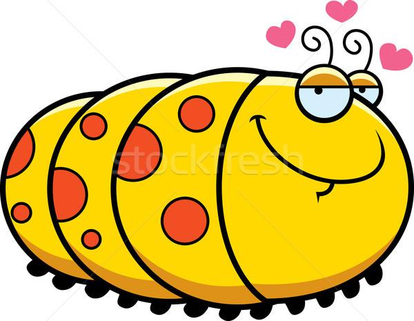 Karikatür tırtıl sevmek örnek mutlu hayvan Stok fotoğraf © cthoman