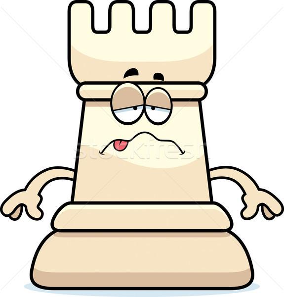 Sick Cartoon Chess Rook Stock photo © cthoman