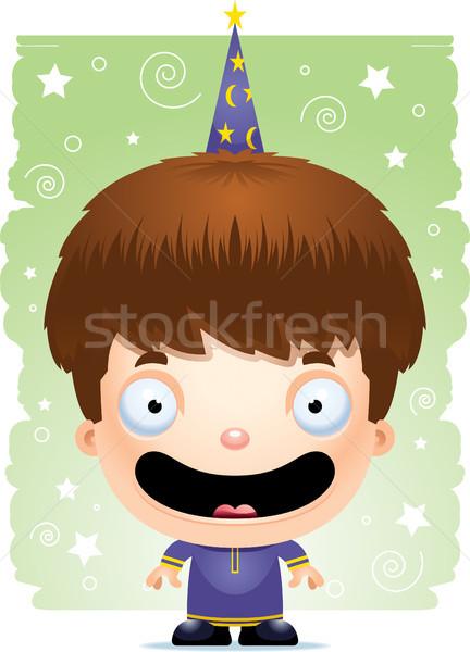 Cartoon Boy Wizard Smiling Stock photo © cthoman