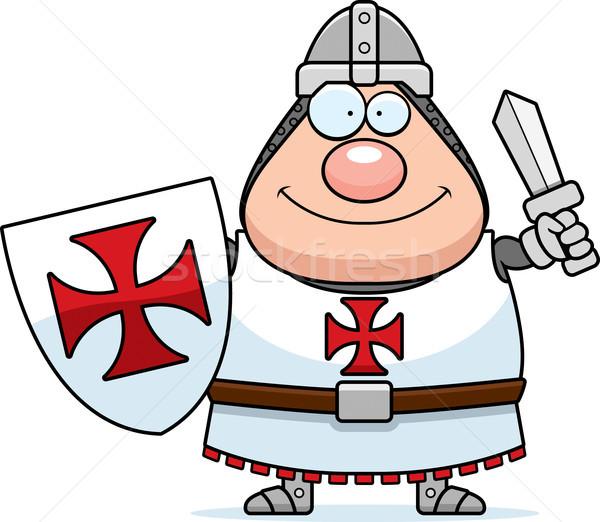 Gelukkig cartoon illustratie ridder naar man Stockfoto © cthoman