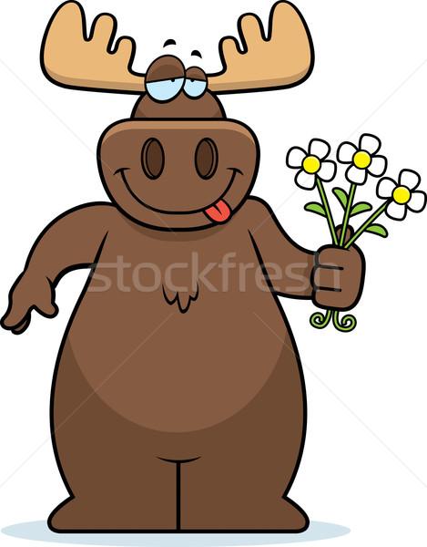 ムース 花 幸せ 漫画 花束 ストックフォト © cthoman