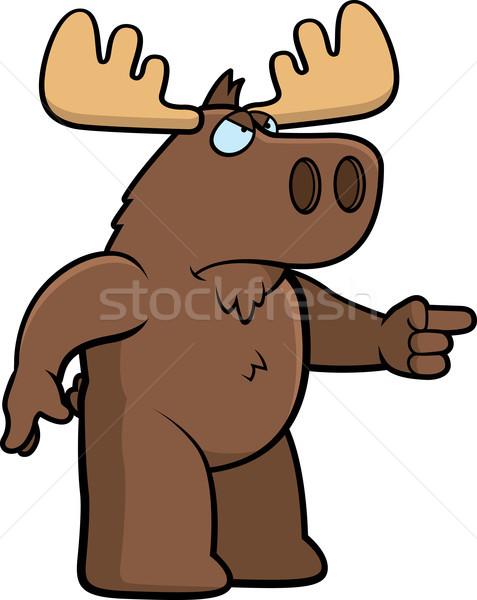 Arrabbiato Moose cartoon Foto d'archivio © cthoman