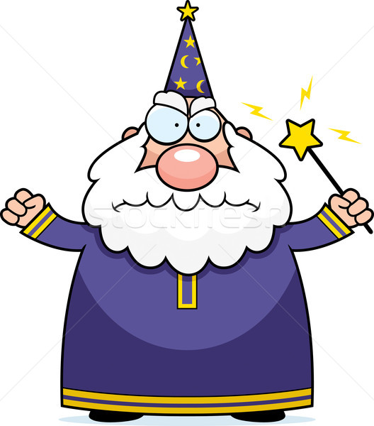Angry Wizard Stock photo © cthoman