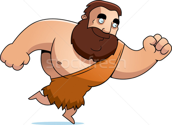 Stock photo: Cartoon Barbarian Running