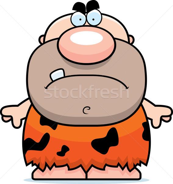 Cartoon Angry Caveman Stock photo © cthoman