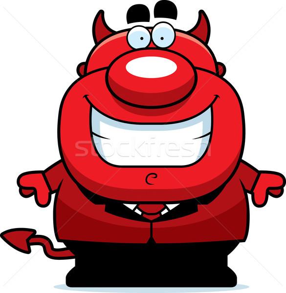 Desenho animado diabo ilustração sorridente terno pessoa Foto stock © cthoman