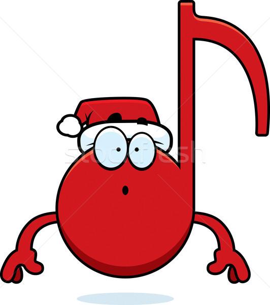 Meglepődött rajz karácsony zene illusztráció zenei hang Stock fotó © cthoman