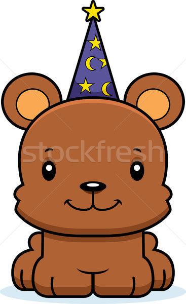 Cartoon Smiling Wizard Bear Stock photo © cthoman
