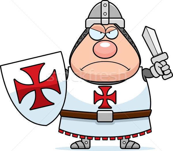 Angry Cartoon Templar Stock photo © cthoman