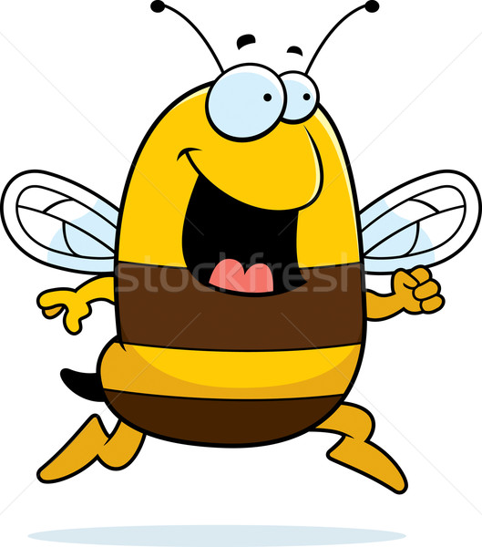 Abeille courir heureux cartoon souriant Photo stock © cthoman