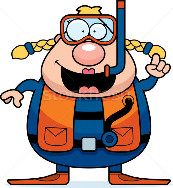Cartoon Scuba Diver Idea Stock photo © cthoman