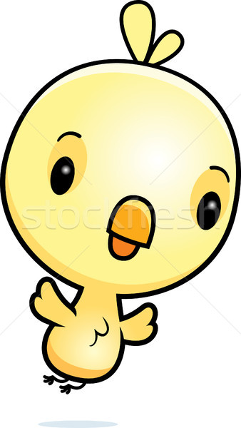 Karikatür bebek civciv uçan örnek tavuk Stok fotoğraf © cthoman