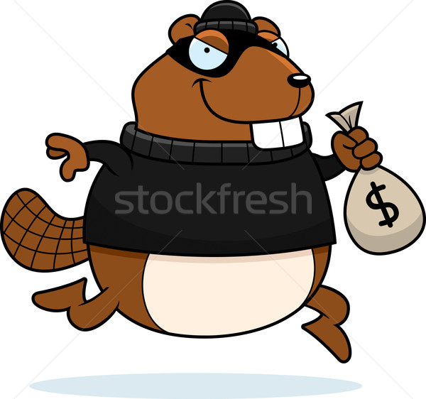Cartoon Beaver Burglar Stock photo © cthoman