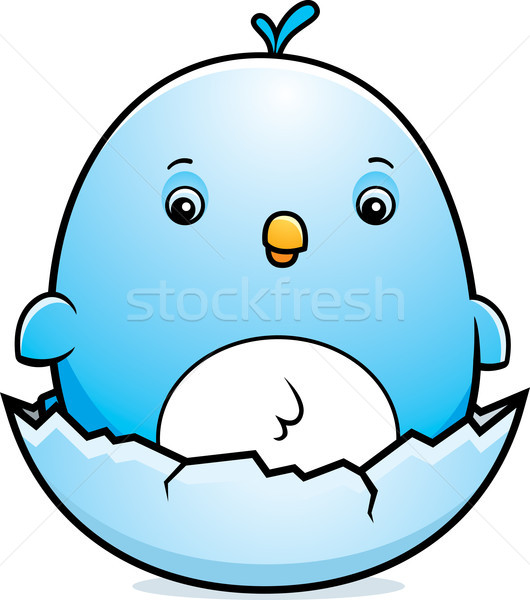 Cartoon Baby Bluebird Egg Stock photo © cthoman