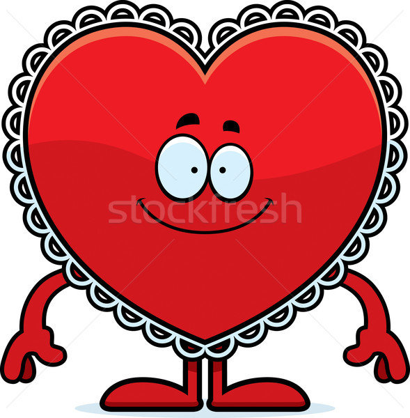 Happy Cartoon Valentine Stock photo © cthoman