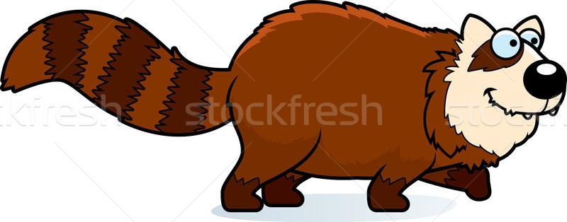 Cartoon czerwony panda spaceru ilustracja Zdjęcia stock © cthoman