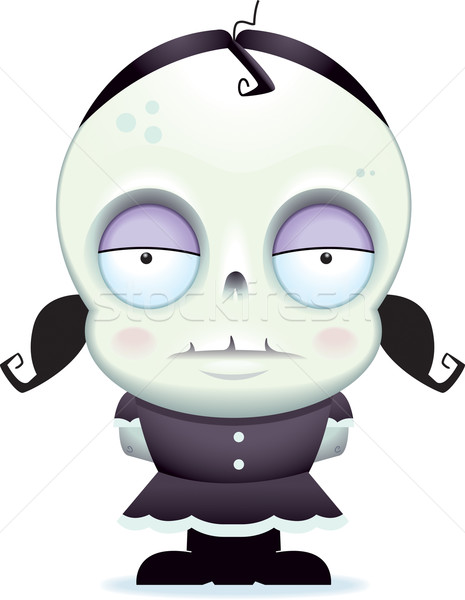 зомби девушки Cartoon Постоянный Kid Сток-фото © cthoman