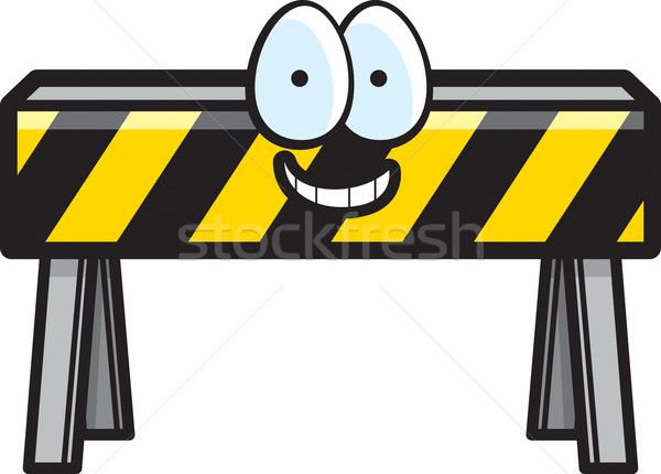 Barricaderen glimlachend cartoon bouw gelukkig Stockfoto © cthoman