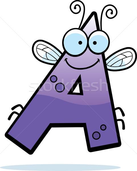 Rajz levél rovar illusztráció rovar szárnyak Stock fotó © cthoman