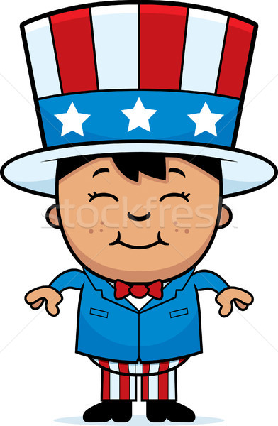 Stock photo: Patriotic Child