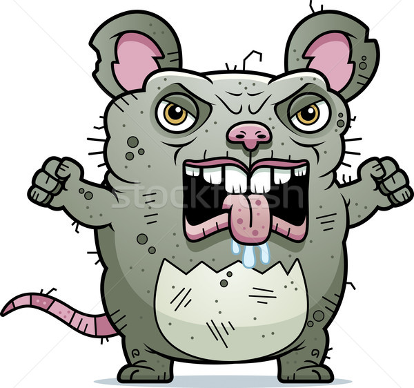 Angry Ugly Rat Stock photo © cthoman