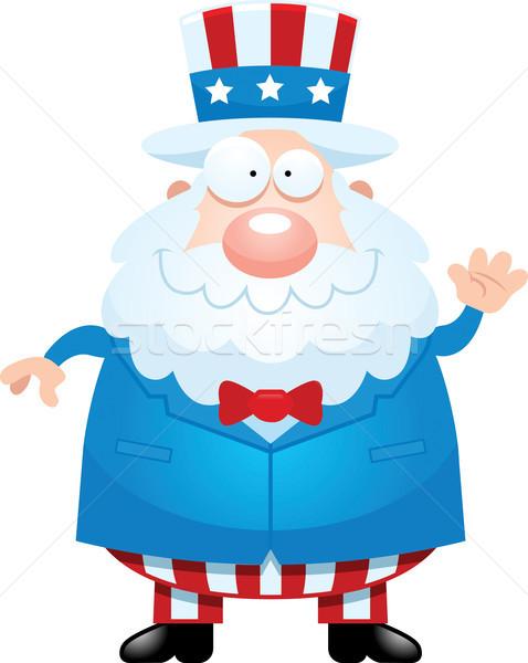Cartoon Uncle Sam Waving Stock photo © cthoman