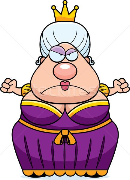 Cartoon królowej zły kobieta korony sukienka Zdjęcia stock © cthoman