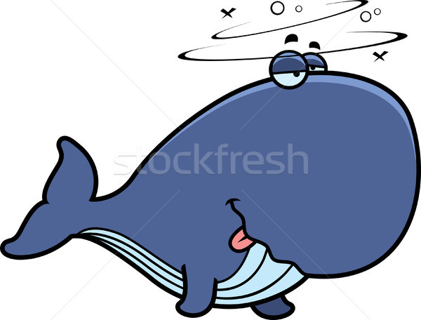 Cartoon pijany wielorybów ilustracja patrząc zwierząt Zdjęcia stock © cthoman